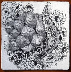 We just sent out our Novermber 2010 newsletter. You can read it online here . Here are some larger images of a new tangle, facets , f. Tangle Doodle, Zen Doodle, Doodle Art, Line Doodles, Zentangle Patterns, Zentangles, Zen Art, Art File, Doodle Drawings