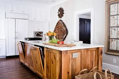 kitchen island ideas hardwood flooring white countertop