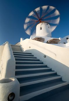 Windmill in Greece by Andre Ermolaev