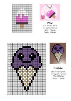 Ice Cream hama perler beads pattern