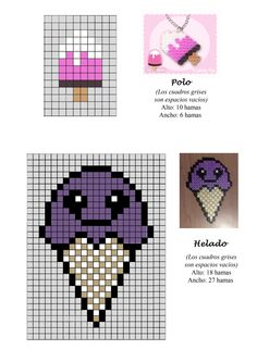 Ice Cream hama perler beads pattern