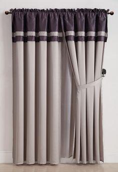 Silver Grey Pole Pocket Velvet Blackout Curtains Drapes