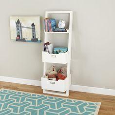 Little Sloane Leaning Bookcase (White) | The Land of Nod