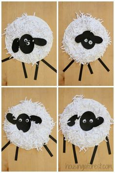 Nursery rhymes--- Mary had a little lamb---Paper Plate Crafts ~ How to Make a Paper Plate Sheep March Crafts, K Crafts, Spring Crafts, Paper Plate Art, Paper Plate Crafts, Paper Plates, Farm Animal Crafts, Farm Animals, Farm Theme Crafts