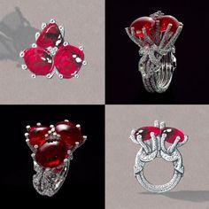 Diamond Rings : The Beauty of Volumes. Giampiero Bodino Tesori Del Mare Ring in white gold and d