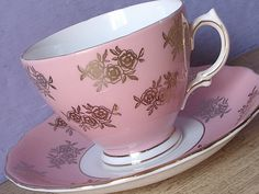 Hey, I found this really awesome Etsy listing at https://www.etsy.com/listing/234588099/antique-teacup-and-saucer-colclough-pink