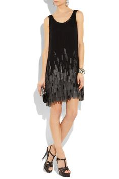 diane von furstenberg fringed silk-chiffon dress OMG YES