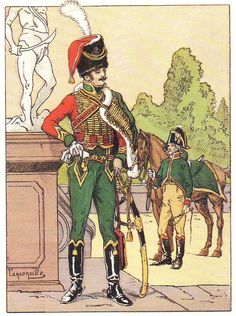 Officier des Guides de Bernadotte en 1805-1806