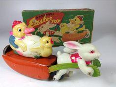 プラモ レトロ玩具の高価買取ならセンチュリーボット / レトロ玩具 人参のソリ イースター トイ 大八ブランド セルロイド ヴィンテージ
