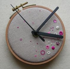 Don't you just love surprising combinations - see the use of a circle for the clock shape. Lovely.