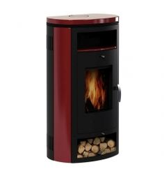 BestellNummer :GLO774100185 - Kaminofen Holzofen Ofen Bella II Bordeaux 7 KW -