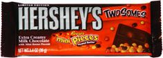 Hershey's Twosomes Extra Creamy Milk Chocolate with Mini Reese's Pieces