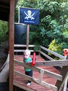 Pirate Ship Playhouse :)
