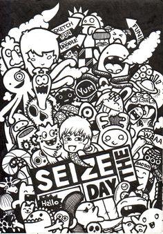 Cute Doodle Art, Cool Doodles, Doodle Art Drawing, Kawaii Doodles, Simple Doodles, Graffiti Doodles, Graffiti Cartoons, Graffiti Characters, Graffiti Art