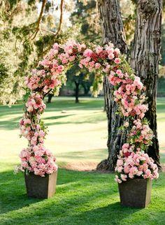 Ideas For Wedding Arch Flowers Climbing Roses Wedding Ceremony Flowers, Ceremony Arch, Wedding Ceremony Decorations, Floral Wedding, Wedding Bouquets, Wedding Arches, Trendy Wedding, Wedding Scene, Dream Wedding