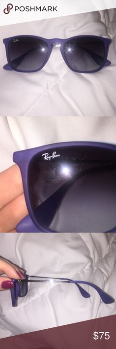 6d728708468 Ray-Ban CHRIS Sunglasses Ray Ban CHRIS Sunglasses. Purple. Never worn.  Comes with case. Grey gradient lenses. Square in shape. Ray-Ban Accessories  ...