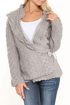 Jema Wrap Sweater