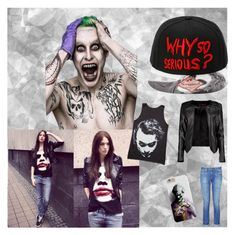"""#joker"" by manuelbass ❤ liked on Polyvore featuring Boohoo, rag & bone, cyanissac and jaimieisanerd"
