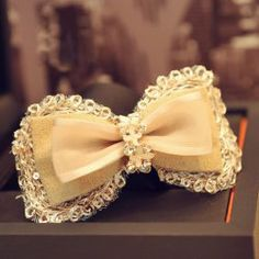 $5.59 Vintage Chic Diamante Multi-Layered Bowknot Hairpin For Women