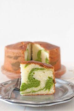 PIstachio Marble Pound Cake. beautiful. and pistachio?? Mmmmmmm.