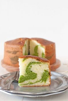 Pistachio Marble Pound Cake - Adapted from Tish Boyle's recipe. Expect Awesomeness!