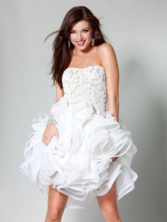 14 best Spectacular White Cocktail Dresses Designs images on ... 07782fdfd8b4