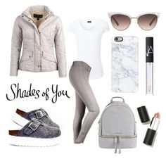 """Monochrome Equestrian Look"" by eqlmag on Polyvore featuring Joseph, Sixtyseven, MICHAEL Michael Kors, Barbour, Gucci, Casetify, NARS Cosmetics, Sigma Beauty, monochrome and grey"
