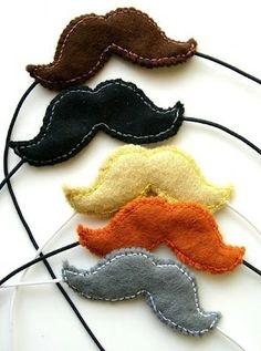 @Annette Howard Howard Howard Howard Howard Shockley Bugs and Fishes by Lupin: Free Tutorial: Felt Moustaches  - mustaches for kids