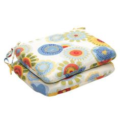 Save $ 5.49 when you buy Pillow Perfect Indoor/Outdoor Multicolored Floral Round