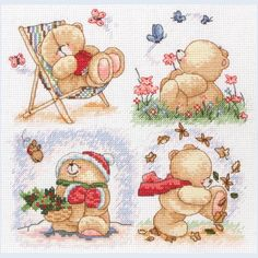 Forever Friends - The Seasons - counted cross stitch kit Coats Crafts