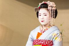 Un exemple de coiffure d'une maiko durant son apprentissage