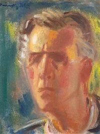 * Self-portrait, 1935 Global Art, Art Market, Past, Self, Artists, Drawing, Mirror, Painting, Art Studios