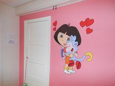 muurschildering dora
