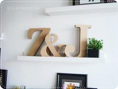 gnjavaonica: DIY cardboard letters