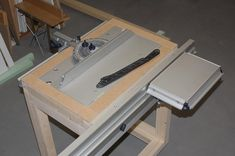 custom CMS table saw for Table Saw Sled, Table Saw Jigs, Sliding Table Saw, Tool Workbench, Wood Jig, Workshop Storage, Garage Makeover, Cardboard Furniture, Woodworking