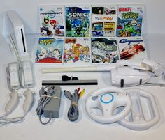 HUGE NINTENDO Wii console lot 8 GAMES MARIO KART & WHEELS FISHING POLE SONIC: $129.99 End Date: Tuesday Jan-30-2018 19:42:02 PST Buy It Now…
