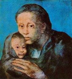 Mother and son with handkerchief, 1903, Pablo Picasso