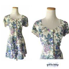 60/'s Hawaiian Romper Aqua Flower Power Cotton Shorts Playsuit Jumpsuit Sunsuit One Piece Culottes Princess Kaiulani S