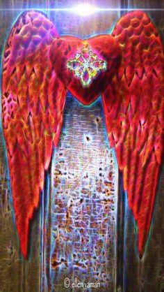 ✣... In Every Heart… Awaits Your Angel...  ✣ Michael  Art © Ellen Vaman www.facebook.com/ellen.vaman1 #EllenVaman #DigitalArt #Spirituality #Angel #Wings #Heart #Love #Light 1972.2 No automatic alt text available.