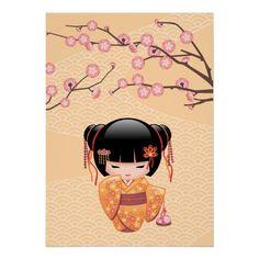 Shop Ume Kokeshi Doll - Japanese Peach Geisha Girl iPad Mini Cover created by Chibibi. Personalize it with photos & text or purchase as is! Birthday Greeting Cards, Custom Greeting Cards, Chibi Kawaii, Girl Posters, Girls Fleece, Illustration, Kokeshi Dolls, Momiji Doll, Panel Wall Art