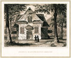 Antique Philadelphia / Main Line Print - The Merion Meeting House - Historic Houses of Worship - Early Quaker Meeting House