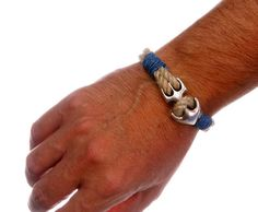 Natural Rope Bracelet with Anchor 4