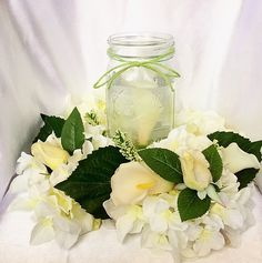 A personal favorite from my Etsy shop https://www.etsy.com/listing/463116134/wedding-centerpiece-wedding-candle