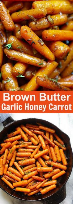Brown Butter Garlic Honey Roasted Carrots – the best roasted carrots ever with lots of garlic, brown butter and honey. SO good   rasamalaysia.com