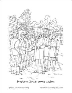 Civil War Coloring Pages For Kids. civil war coloring pages pdf ... | 305x236