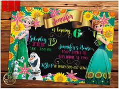 Frozen Fever Invitation frozen fever frozen fever birthday