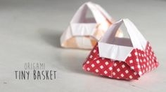 Origami Tiny Basket