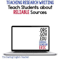 The Daring English Teacher: Teaching the Research Paper Part 1: Introducing the…