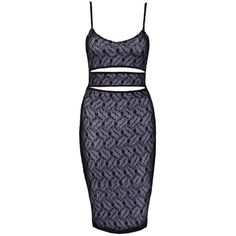 Choies Black Mesh Lace Cut Out Spaghetti Strap Bodycon Dress ($22) ❤ liked on Polyvore featuring dresses, black, bodycon dress, black spaghetti strap dress, black cocktail dresses, mesh dress and lace dress