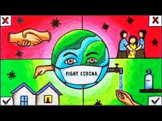 Coronavirus Awareness Poster Drawing | How to Draw Easy Poster of Corona Covid 19 Prevention - YouTube Hipster Drawings, Mini Drawings, Oil Pastel Drawings, Oil Pastel Art, Art Drawings Sketches Simple, Abstract Drawings, Couple Drawings, Pencil Drawings, Drawing Images For Kids